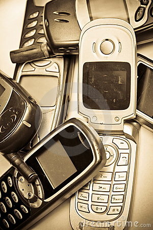 Free Old GSM Phone Stock Photography - 23268122