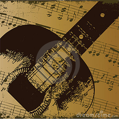 Free Old Guitar Royalty Free Stock Photography - 13759747