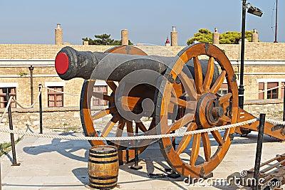 Old gun at Corfu island, Greece
