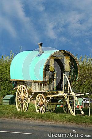 Old gypsy caravan