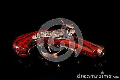 An old hand gun