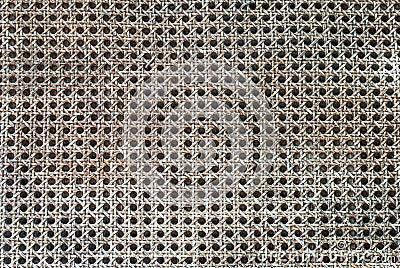 Old handicraft weave texture natural wicker