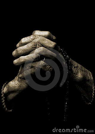 Free Old Hands(pray) Royalty Free Stock Image - 4261556