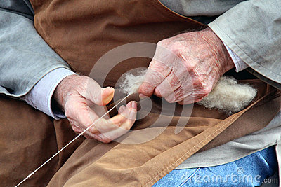 Old hands who spin the wool