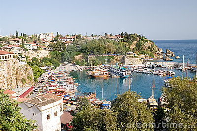 Old harbour in Antalya