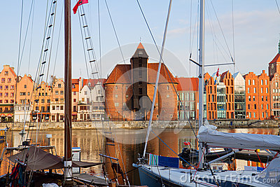 Old harbour of Gdansk