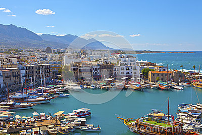 Old harbour in Kyrenia, Cyprus. Editorial Image