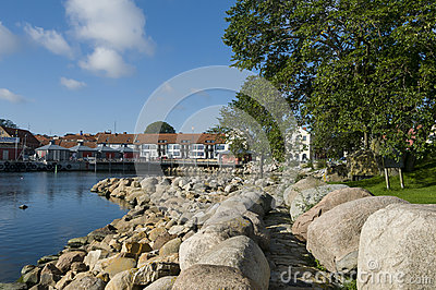 Old harbour Simrishamn Editorial Photo