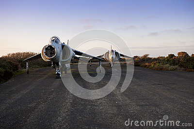 Old harrier airplane