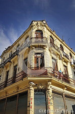 Old Havana building facade