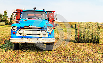 Old hay truck