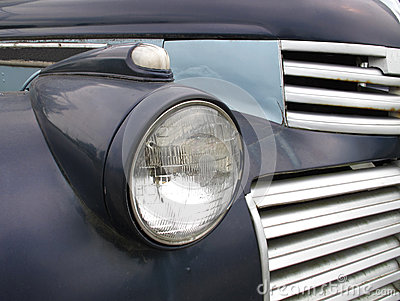 Old headlight on a truck
