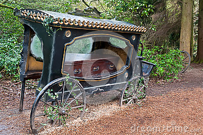Old hearse .