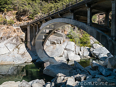 Old Highway 49 bridge over the Yuba River