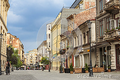 Old historical center Lipscani Editorial Stock Photo