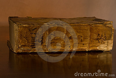 Old Holy Bible, circa 1500, on table