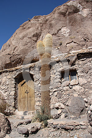 Free Old House And Cactus, Isla Del Pescado, Salar De Uyuni Royalty Free Stock Images - 47283339