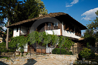 Old house in Bulgaria. Raikov s house - Trqvna