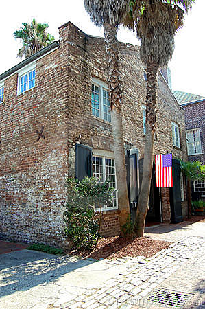Old house in Charleston city