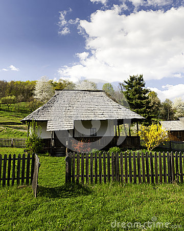 Free Old House In A Mountain Landscape Royalty Free Stock Photos - 27485488