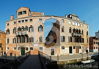Old House - panorama ,Venice,Italy