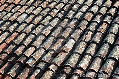 Old house roof tile