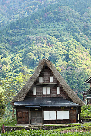 An old house in Shirakawa-go, Japan