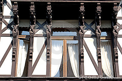 Old house with six devils