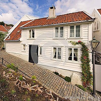 Old house in Stavanger, Norway.