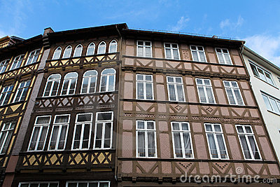 Old houses in Hannover.