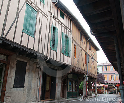 Old houses in Mirepoix France