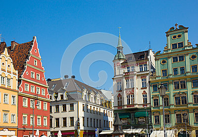 Old houses on plac Solny, Wroclaw