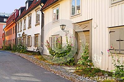 Old idyllic street.