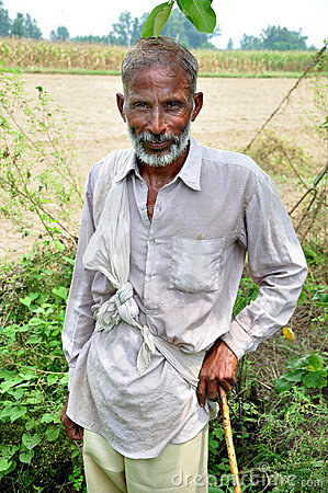 Old indian farmer
