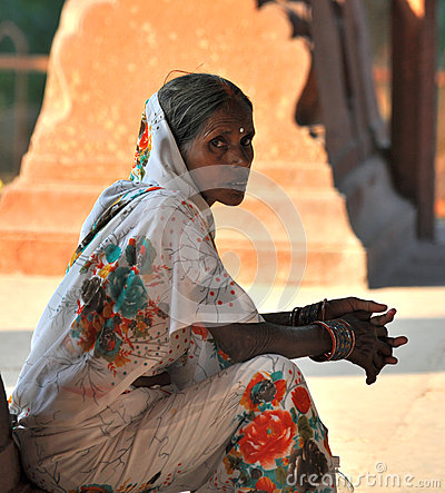 Old Indian Lady Editorial Image