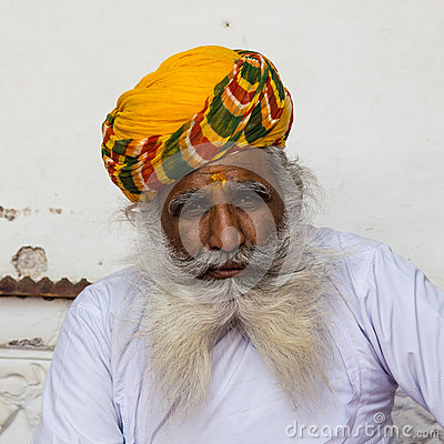 An old Indian man with a beautiful beard Editorial Photography