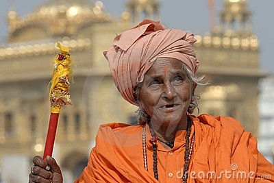Old Indian Woman Editorial Image