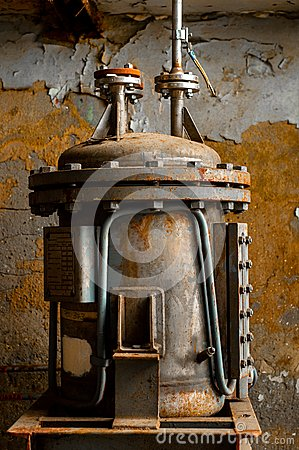 Old industrial water supply parts