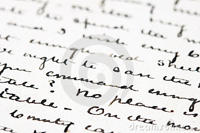 Old ink letter