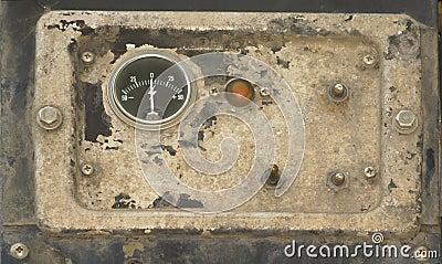 Old instrumental panel