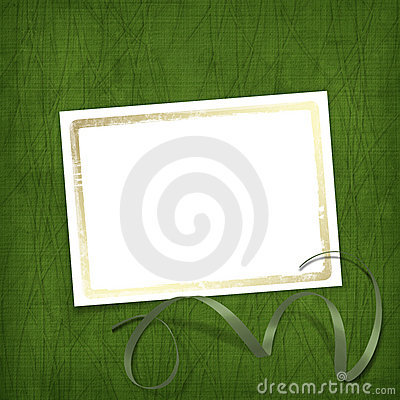 Old invitation for holiday with ribbons