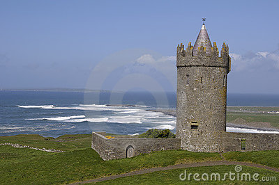 Old irish castle by the sea