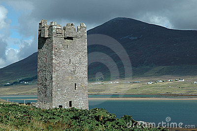 Old Irish castle tower