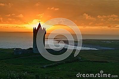 Old irish castle on west coast of ireland