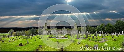 Old Irish church  grave yard