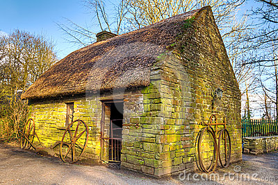 Old Irish cottage house