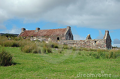 Old Irish cottage ruin