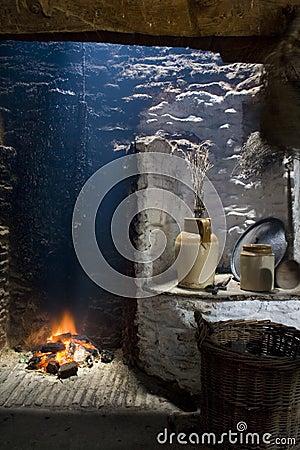 Old irish Hearth fireplace