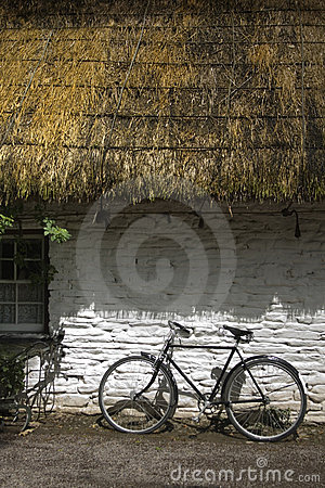 Old Irish thatched cottage