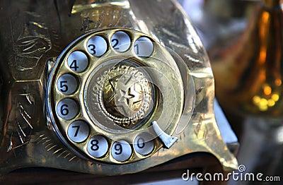 old iron antique telephone